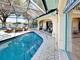 Lakeside Home on Huge Nature-filled Lot w/ Caged Private Pool