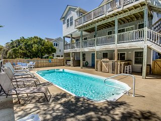 Back to Duck | 530 ft from the beach | Private Pool, Hot Tub | Duck