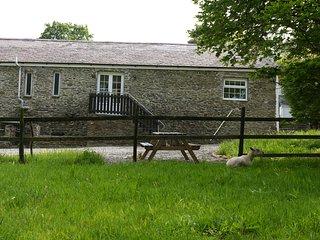 CEFN BRYN COTTAGE, sleeps four, stone, barn, open plan, near Lampeter, Ref