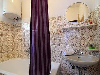 Binnen, kamer, badkamer, Gordijn, Sink