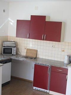 Pièce, intérieur, cuisine, four, meubles