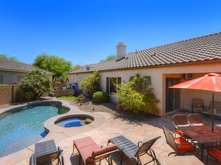 Spacious home w/ private pool, hot tub, covered patio, and backyard