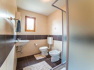 Chambre, intérieur, salle de bains, toilettes, revêtement de sol