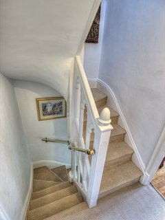 Winding staircase at first floor level
