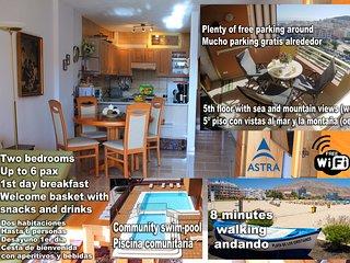 Los Cristianos Edén, piscina, 2 habitaciones, WiFi, vistas