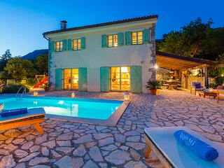 Luxury family villa in complete privacy with heated pool, kids park & sauna