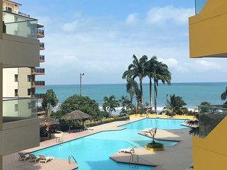 TONSUPA Beach, 3BDR A/C Apartment great view Sleeps 9