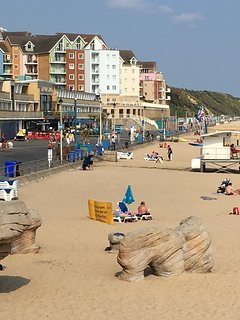 View of the beach from Boscombe Pier