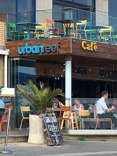 Urban Reef cafe on Boscombe Beach