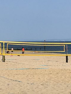 Volleyball courts on Boscombe Beach