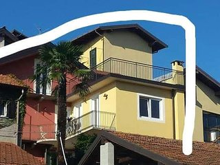 AltaVista, Casa vacanza, 2,5 km from Lago Maggiore, lake and mountain view