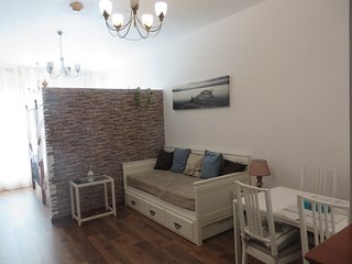 Modern upgraded studio in Skycourts, Dubai Land