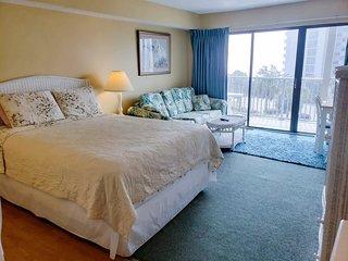 Ocean View Condo in Central Myrtle Beach~Bluewater Villas II 308-B