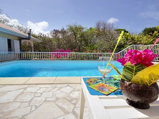Superbe villa creole avec piscine a 5mn des plages