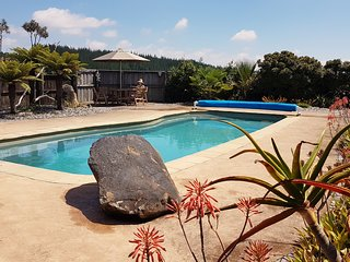 Stunning views of Nelson with a swimming pool!