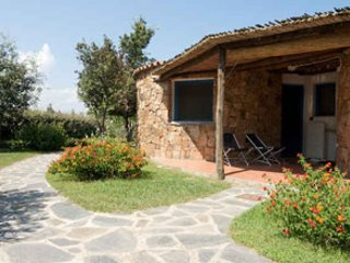 Een andere hoek van de bungalows