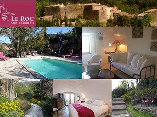 Roc sur LOrbieu--Maison Le Chemin de Ronde 5 personnes  - Piscine chauffee