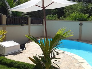 Private Blue Villa 4mn from the beach for 12p, special honeymooning