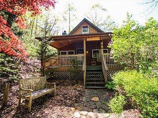 ROARING CREEK! Cabin w/HotTub,WiFi, Near Boone On Stocked Trout Stream