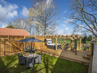 Elm Lodge, Washford - Luxury Lodge with private Hot Tub! Sleeps 4