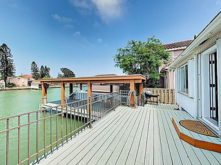 Waterfront Haven w/ Uncovered Boat Slip, Deck & BBQ Grill, 5 Miles to Beach