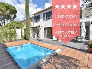 ❤️ UNIQUE ❤️ Maison pour 10 avec piscine a 10min a pied du centre de Cannes