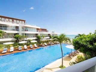 Apartamento completo com vista mar e piscina no DUNAS DE COTOVELO NAT-CT.Dunas21