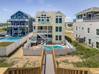 Majestic Palm #1 | Oceanfront | Private Pool, Hot Tub | Nags Head