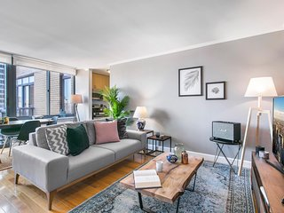 Radiant Times Square 1BR w/ Indoor pool + Doorman by Blueground