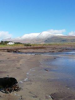 Feothanach beach, 2 minutes drive from house.