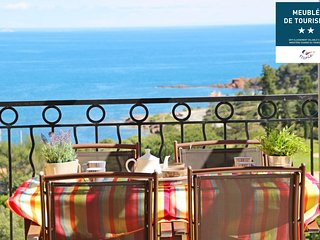Cap Esterel Village - 2 pieces mer terrasse - C4 - 306la