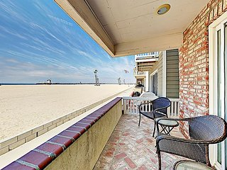 Prime Oceanfront Location! Contemporary Seal Beach Getaway on the Strand