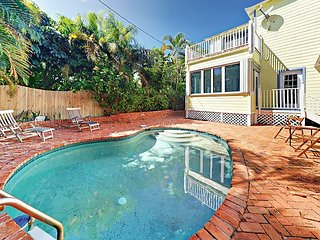 Tropical 3BR Home w/ Game Room, Pool & Sun Porch - 7 Blocks to Beach