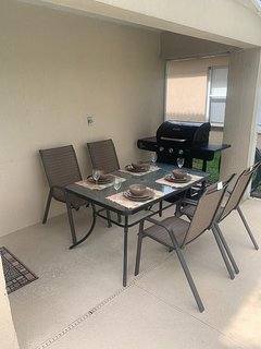 Patio Set and BBQ