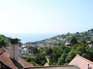 Seascape is a fabulous detached house with views over Beer and out to sea