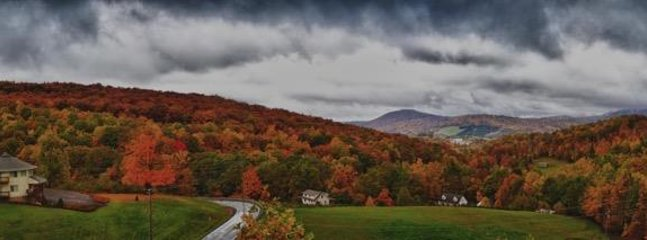 Stormy Fall View