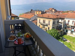 Milly apartment in the center of Verbania Pallanza with balcony and lakeview