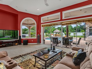 Pure Luxury 5BR Mediterranean Paradise w Resort-Style Pool, Spa & Tiki Hut