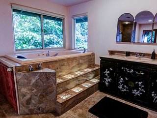 Spa tub, gulch view & separate shower