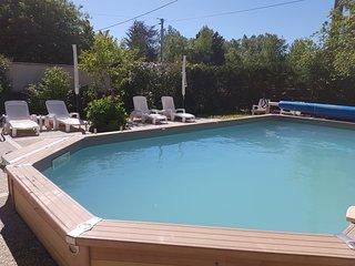 Gite La Grange avec piscine a 4 km du Chateau de Chenonceaux