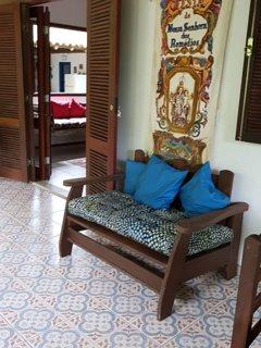 Varanda e entrada da sala de estar