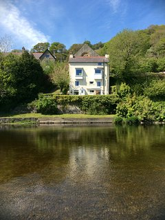 View of Penlan from across the river