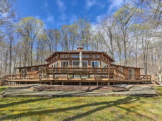 NEW! Family Home w/ Deck, Walk to Big Bass Lake!
