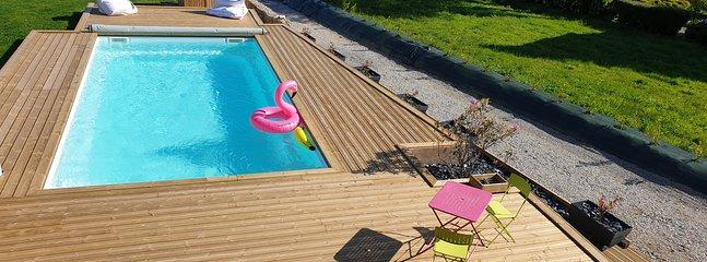 Piscine / Bretagne / Finistère Sud /  gîte  / maison de vacances / chambres / piscine / location