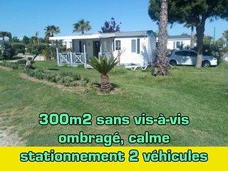 MH sur 300m2 plus grande parcelle du camping 4* équipé tout confort + Vélos...