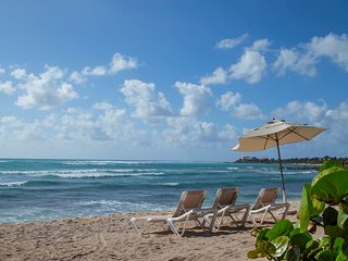 Oceanfront Villa with Patio! Nesting Turtles, Pool Access + Restaurant On-Site