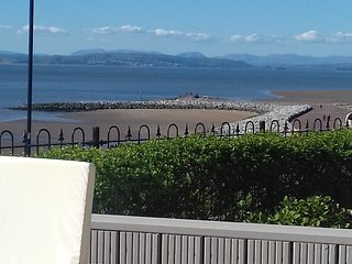 Seafront House with views over Morecambe Bay and Lake District Mountains