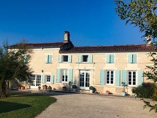 Traditional Charentais Villa, near Cognac, with heated private pool and garden.