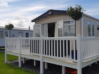 Presthaven sands - Platinum with decking  Stunning  ABi malham 2019 caravan.