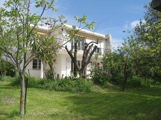 1er etage de villa, jardin, lumineux, vue degagee village de Plascassier et mer